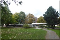 SE6250 : Spring Lane building and covered walkway by DS Pugh