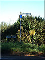TM4094 : Beccles Road sign & Signpost by Adrian Cable