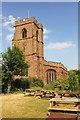 SJ4154 : St Chad's Church, Holt by Jeff Buck
