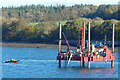 SH5269 : A closer look at a drilling rig on the Menai Strait by Robin Drayton