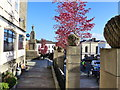 ST5393 : Looking down Chepstow High Street's pavement : Week 43