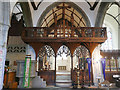 SU1529 : St Martin's church - rood screen by Stephen Craven