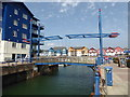SX9980 : Lift bridge, Exmouth by Chris Allen