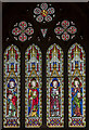 SK7519 : Stained glass window, St Mary's church, Melton Mowbray by Julian P Guffogg