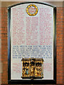 SD8010 : Bury Parish Church, First World War Memorial by David Dixon