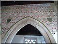 SO3449 : Wall Paintings inside St. James' Church (Nave   Kinnersley) by Fabian Musto