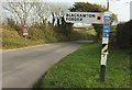 SX7948 : Road at Wallaton Cross by Derek Harper