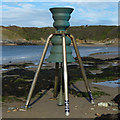 SH3793 : St Patrick's Time and Tide Bell, Cemaes Bay by Robin Drayton