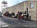 SU1484 : Howitzer convoy, Bristol Street, Swindon by Brian Robert Marshall