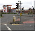 SJ7154 : Pelican crossings near B&Q Crewe by Jaggery
