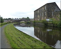 SD8537 : Whitefield Mill next to the Leeds and Liverpool Canal by Mat Fascione