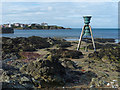 SH3793 : Tide and Time Bell, Cemaes by Robin Drayton