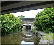 SD8639 : Three bridges crossing the Leeds and Liverpool Canal by Mat Fascione