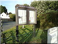 TL9125 : Aldham Village Hall Notice Board by Geographer