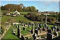 SX7968 : Churchyard, Woodland by Derek Harper