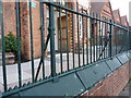 SP0883 : Cast iron railings outside the Anderton Park Primary School by Richard Law
