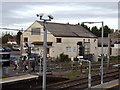 TL9123 : Works Building at Marks Tey Railway Station by Adrian Cable