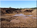 SO8542 : Gravel extraction workings by Philip Halling