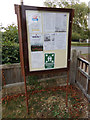 TL9123 : St. Andrew's Church Notice Board by Adrian Cable