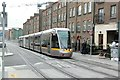O1535 : LUAS tram passing Temple Court, Dominick Street Upper by Alan Murray-Rust