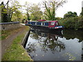 TQ0480 : A narrow boat on the Slough Arm of the Grand Union Canal by Marathon