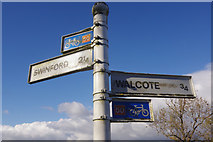SP5682 : Signpost on Swinford Road by Stephen McKay