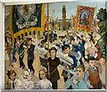 SJ9494 : Festival of Britain Mural: Detail (1) by Gerald England