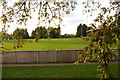 TL4358 : Cambridge University rugby ground, seen over the eastern boundary fence by Christopher Hilton