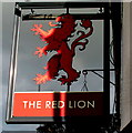 ST3490 : Red Lion name sign, Backhall Street, Caerleon by Jaggery