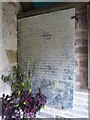 SO3732 : Plaque inside St. Faith's Church (Porch   Bacton) by Fabian Musto