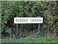 TL8930 : Middle Green sign by Adrian Cable