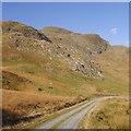NN6719 : Crags, Tom Liath by Richard Webb