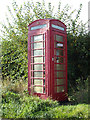 TL8930 : Disused Telephone Box on Lane Road by Adrian Cable