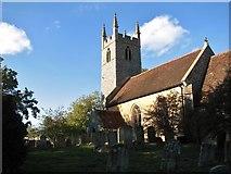 TG2202 : St Remigius' church at Dunston (churchyard) by Evelyn Simak