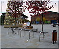 ST3187 : Usk Plaza bicycle parking area, Newport by Jaggery
