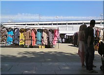 SJ9494 : Clothes stall on Hyde Market by Gerald England
