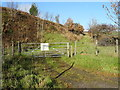SD9706 : Gated field entrance (footpath) off Oldham Road (A62) by JThomas