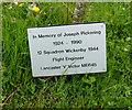 TF1081 : Memorial tree to Joseph Pickering (flight engineer) by Ian S