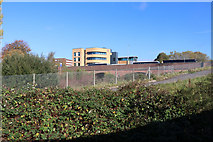 SD8010 : Bury College from the East Lancashire Railway by Chris Allen