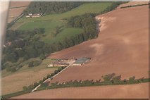 TF4571 : Ploughed out earthwork and soil marks at Claxby St. Andrew: aerial (2) by Chris