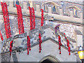 SP9211 : Installing the cascade of poppies on Tring Church by Chris Reynolds