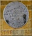 SP4540 : Banbury Conveniences: Plaque by Gerald England