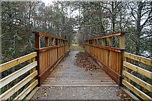 NJ0224 : Speyside Way Footbridge by Anne Burgess