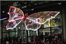 TQ1985 : View of a butterfly in the lantern parade of Light Up The Night by Robert Lamb