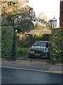 SK4847 : Gates at 52 Moorgreen, Greasley by Alan Murray-Rust