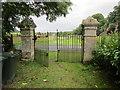 NY7287 : Cemetery gates, Falstone by Jonathan Thacker