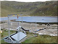 SN7987 : Temporary drinking water abstraction mechanism, Llyn Llygad Rheidol by Rudi Winter