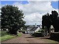 NS9739 : The lane past the church, Covington by Jonathan Thacker