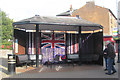 SP9211 : The Armistice Yarn Bombing of the Church Square Bus Shelter, Tring by Chris Reynolds