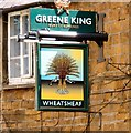 SP4540 : Sign of the Wheatsheaf by Gerald England